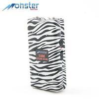 Monster White Zebra 18M Rechargeable Stun Gun w/ LED Light