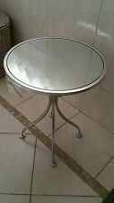 BRAND NEW VEGAS MIRRORED METAL AND GLASS WINE TABLE PLANTS TABLE,FRENCH.