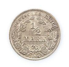 Germany 1/2 Mark 1906G EF+ Silver