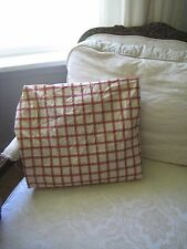 WOOLRICH KIDS RED, BEIGE & BLACK FULL / DOUBLE CHECKERED FITTED SHEET  #139