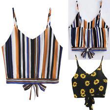 Sin Mangas para Mujer Corto de Tirantes Camiseta Verano Camisola Playa Blusa