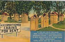 POSTCARD  COMIC  Air conditioned cabins for rent