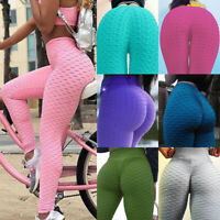 Women Scrunch Leggings Yoga Pants Anti Cellulite High Waist Elastic Trousers USA