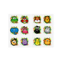 24 x JUNGLE ZOO ANIMAL Temporary Tattoos Childrens  Kids Girls Party Bag Filler