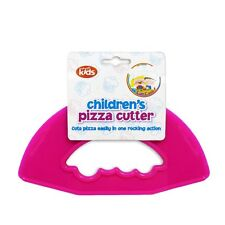 CHILDREN'S PIZZA CUTTER SAFELY SLICES IN EASY ROCKING ACTION  PINK