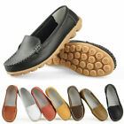 Ladies Womens Leather Flat Slip On Walking Pumps Moccasin Loafers Shoes