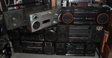 VINTAGE LOT OF 7 BOOMBOX GHETTOBLASTER STEREO RADIO CASSETTE * OLD COLLECTION *