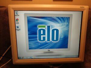 "ELO ET1529L-8CWA-1-BG-T-G 15"" POS Touchscreen LCD Monitor USB TESTED GOOD WHITE"