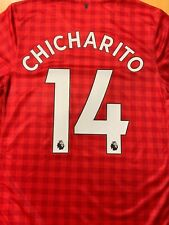 nike manchester united Home Jersey 2012/13 Red L/S #14 CHICHARITO Men XXL  Only