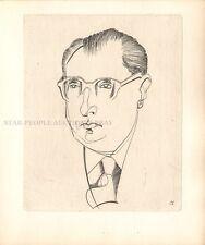 JEAN CASSOU - VIE DU MOROSIN * VERY RARE DRY POINT ETCHING 1954 BY ABRAM KROL