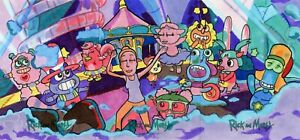 Rick & Morty S2 Sketch Card AP PUZZLE - RICH MOLINELLI - SUMMER'S DANCE PARTY