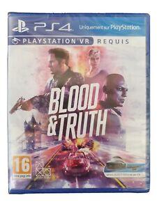 Blood & Truth jeu console PS4 VR en FR lot)2,4,5 PS playstation action Londres x