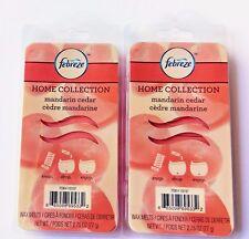 2X Febreze Mandarin Cedar Scent Home Collection Wax Melts 6 Melts Per Pack