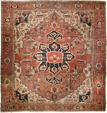 """Genuine hand knotted authentic Antique rug. 11'3""""x 12'6"""""""