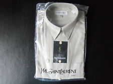 Men's Shirt Yves Saint Laurent Large Long Sleeve 16 32/33 Olive TA NEW