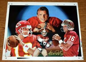 Joe Montana 49ers/Chiefs RINGS by Anthony Douglas Signed & #'d Artist Proof 1/50