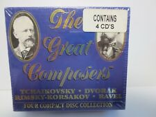 THE GREAT COMPOSERS ~ 4-CD BOX SET ~ TCHAIKOVSKY ~ DVORAK ~ RAVEL ~ NEW