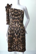 REVIEW Women's Dress rrp $299.95  One Shoulder Animal Print Sheath Size 6 US 2