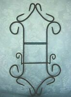 Large Very Sturdy Black Wrought Iron Wall Rack for Collectible Plate or Picture