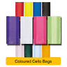 30 CELLOPHANE PARTY Loot BAGS - Coloured & Clear Cello Gift Sweet Treat Birthday