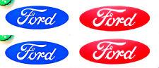2 Ford Decal Sticker, Oval Logo Emblem, 7 YR WARRANTY, BLUE or RED, Car Truck