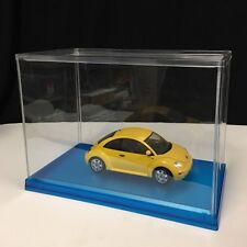 Hobby Base - Dispaly case Clear Blue base (L11in x H8in x W6in) Plastic - KN12BL
