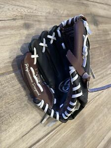 """Rawlings Youth T Ball Baseball Glove 9"""" RH Throw Leather PL90MB Right Handed"""