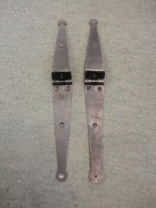 Pair of Vintage Steel Box / Kist Hinges (Old Stock)