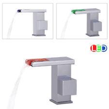 LED Bad Waschbecken Waschtisch Armatur Einhebel Wasserhahn Chrom Sanlingo