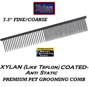 Master Grooming Tools XYLAN (Like TEFLON) PET FINE/COARSE GREYHOUND Style COMB