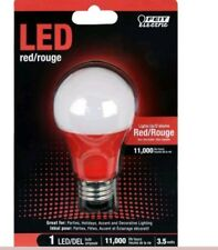 Feit Electric A19/R/10KLED Non-Dimmable Red Light LED Bulb, A19 Shape, 120V, 3W