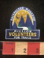 BACKPACKER MAGAZINE Million Volunteers For Trails Advertising Patch 96MN