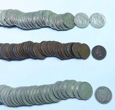 (3) Indian Head - Liberty V - Buffalo Nickel 1/2 Roll Lot // Good-VF // 65 Coins