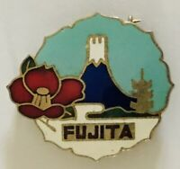 Fujita Mount Fuji Japan Authentic Souvenir Pin Badge Rare Vintage (A3)