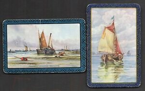 Two Single Vintage Playing/Swap Cards : FRENCH FISHING SMACKS AND OTHER