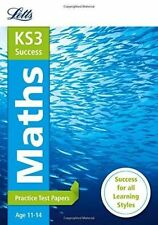 Letts KS3 Success Maths Practice Test Papers Age 11-14  BRAND NEW Paperback 2014