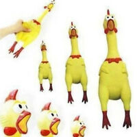 17cm Screaming Rubber Chicken Squeaky Pet Tough Dog Chew Treat Toy Gift Fashion