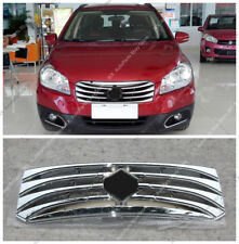 ABS Chrome Front Bumper Middle Grille Grill Mesh j For Suzuki S-CROSS SX4 14-17
