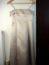 STUNNING PROM BRIDESMAID DRESS FROM BHS. AGE 11Y. GOLD. EXCELLENT CONDITION