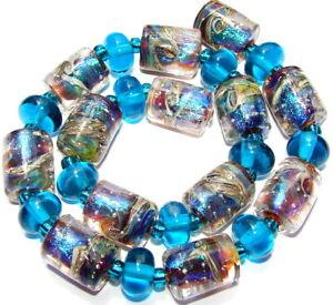 "Sistersbeads ""O-Aegean"" Handmade Lampwork Beads"