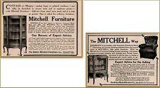 2 1909 a - 1910 Robert Mitchell Furniture Art Colonial Cottage Print Ads
