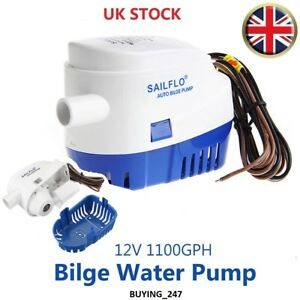 12V 1100GPH Boat Marine Automatic Submersible Auto Bilge Water Pump Float Switc