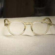 Retro solid acetate flesh eyeglasses johnny depp men's womens RX eyewear small