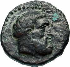 MENAINON in SICILY 2ndCenBC Hercules Club QUADRANS Ancient Greek Coin i46600