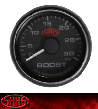 SAAS Diesel Turbo Boost Gauge Black Face 0-30 PSI 52mm NEW