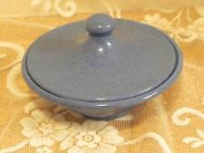 "Vintage Moorcroft Powder Blue Covered Bowl 6"" Diam"