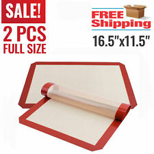 2 Pack Large Silicone Baking Mat  Oven Non Stick Cookie Tray Heat Resistant