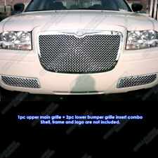 Fits 05-10 Chrysler 300 Stainless Steel Mesh Grille Grill Combo Insert