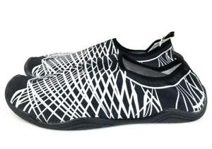 Fantiny- Women's Black White Pattern Water Shoes