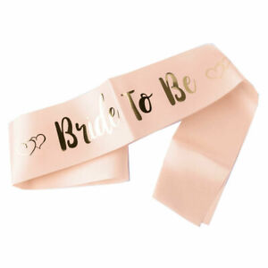 Peach Hen Party Sashes Team Bride To Be Sash Wedding Girls Night Out Party